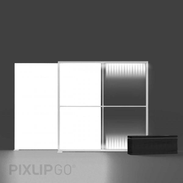 PIXLIP GO   Lightbox 200 cm x 200 cm indoor   beidseitig